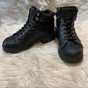 Harley Davidson Black Motorcycle Leather Size US 6